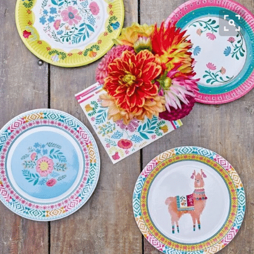 assiettes boho folk
