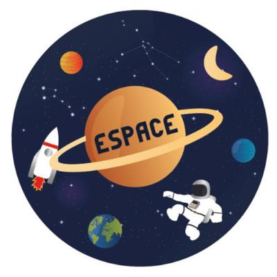 Décorations de fête personnalisées espace fusée planète astronaute petit garçon