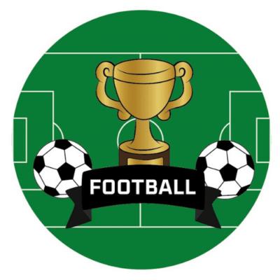 Décorations de fête personnalisées football ballon garçon