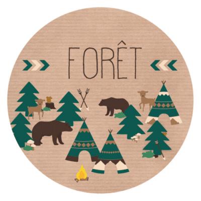 Décorations de fête personnalisées forêt nature animaux