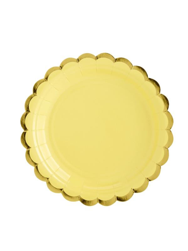 Assiettes jaune pastel