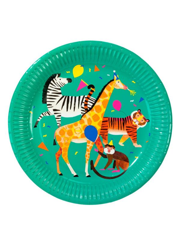 assiettes animaux en fête