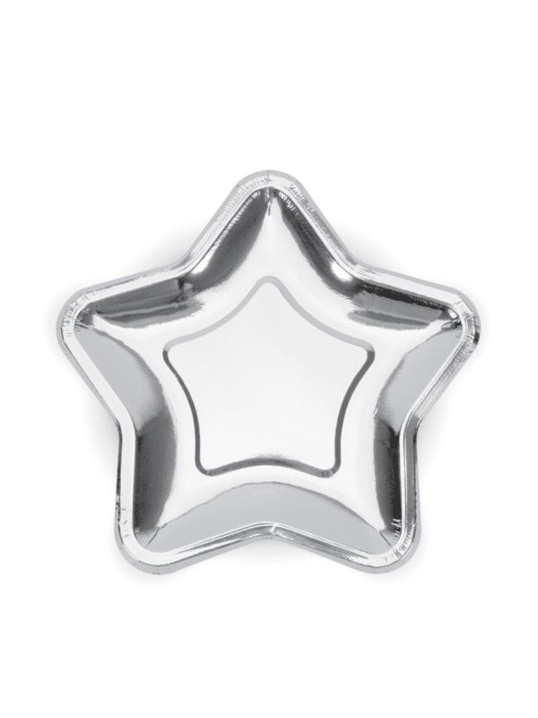 assiettes étoile argent