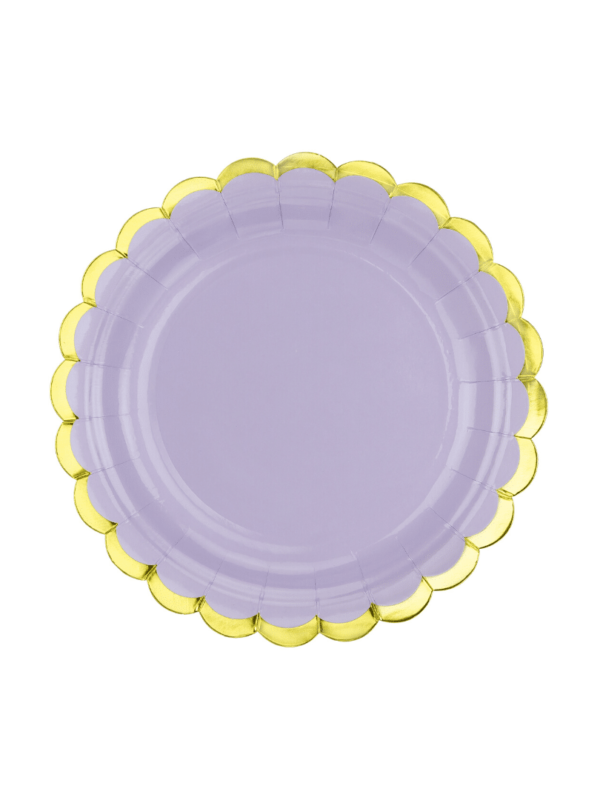 assiette lilas pastel