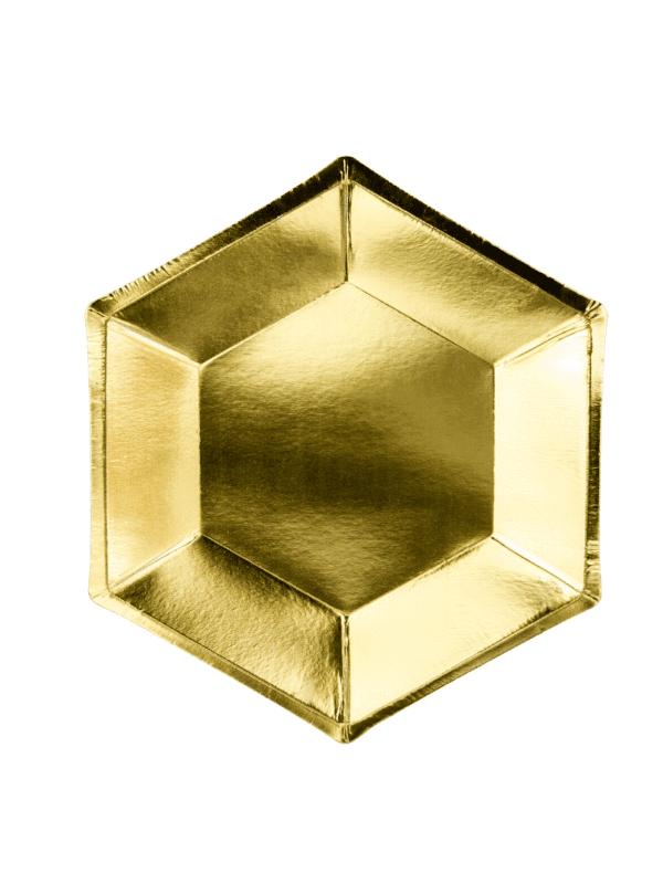 petites assiettes dorées