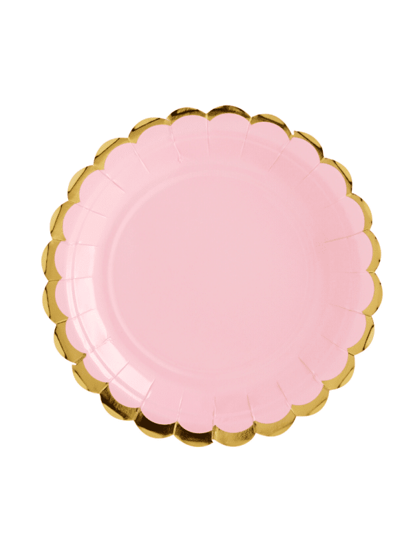 assiettes rose pastel