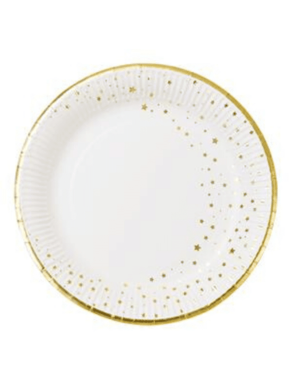 assiette stars étoile dorée crealoca