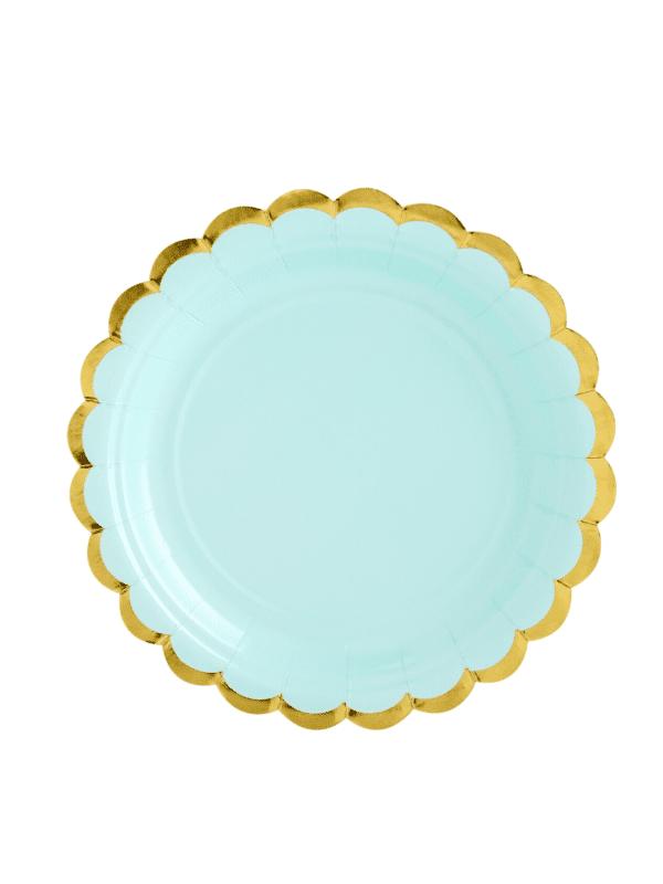 assiettes pastel vert