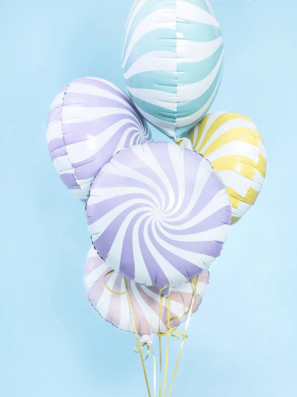 ballon sucette pastel