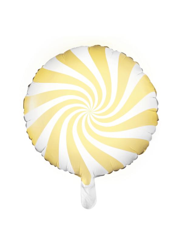 ballon sucette jaune pastel