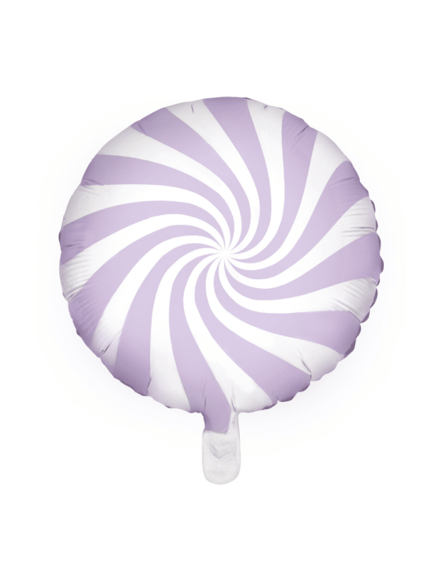 ballon sucette lilas