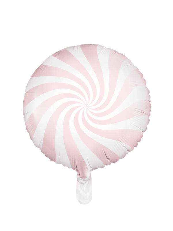 ballon sucette rose pastel
