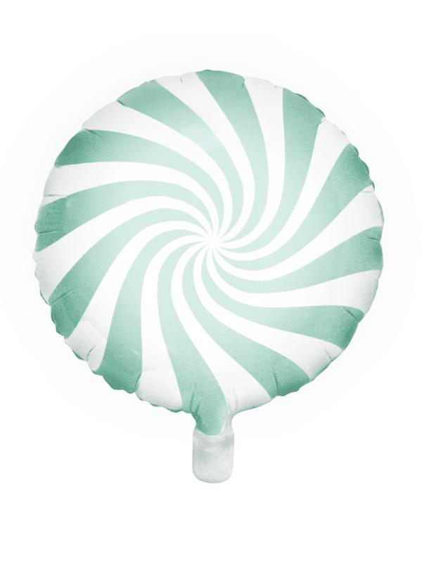 ballon sucette vert pastel