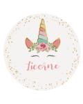 Décoration de fête anniversaire fille rose et pastel licorne
