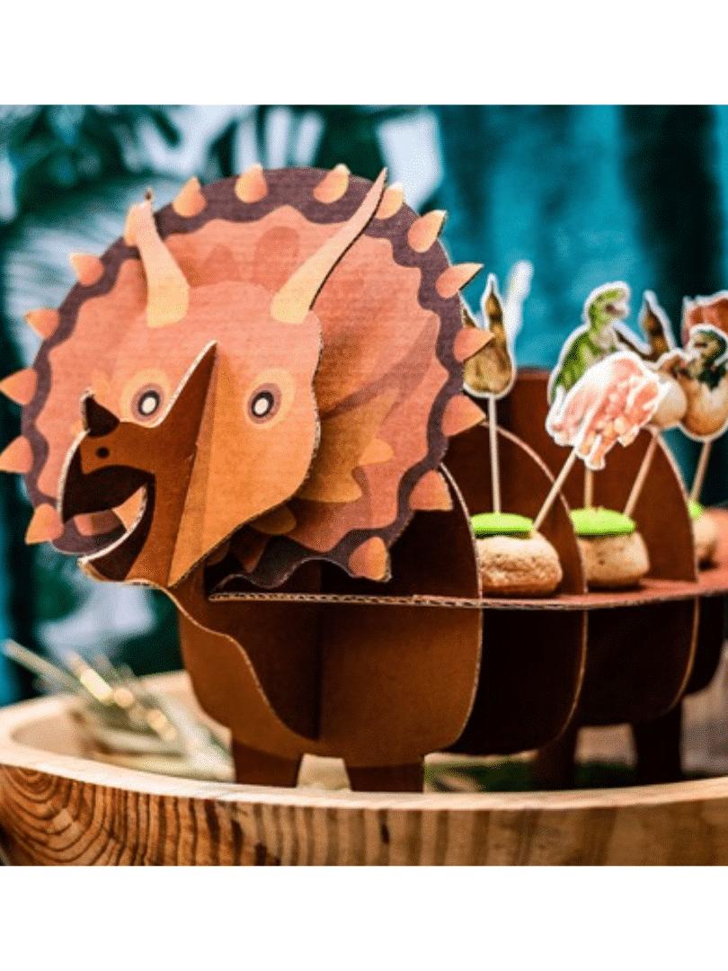 présentoir à gateau dinosaure