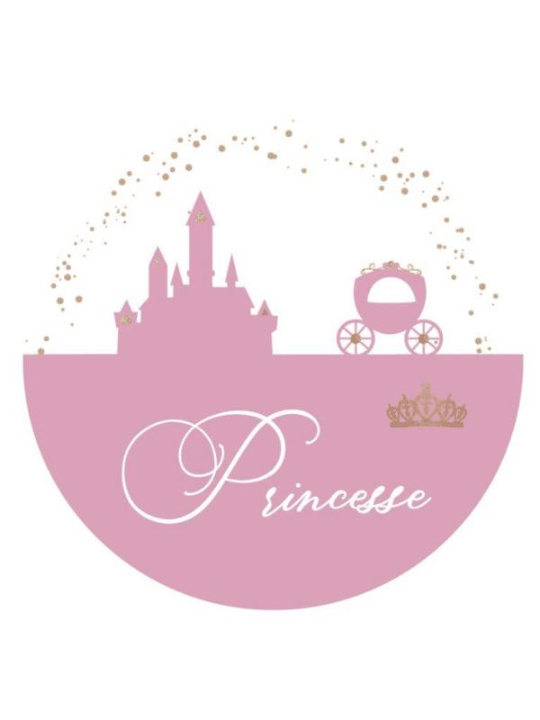 Décoration princesse rose et doré petite fille