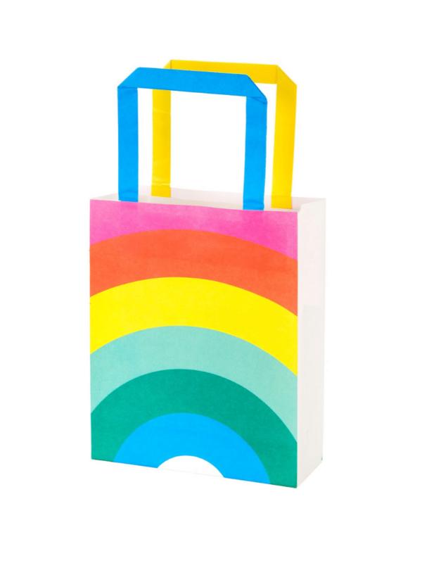sacs cadeaux arc-en-ciel