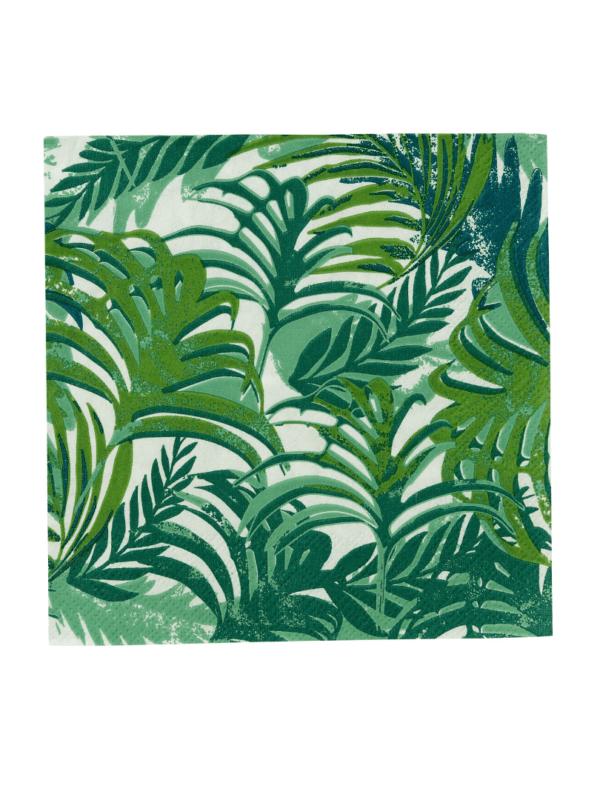 serviettes forêt tropicale