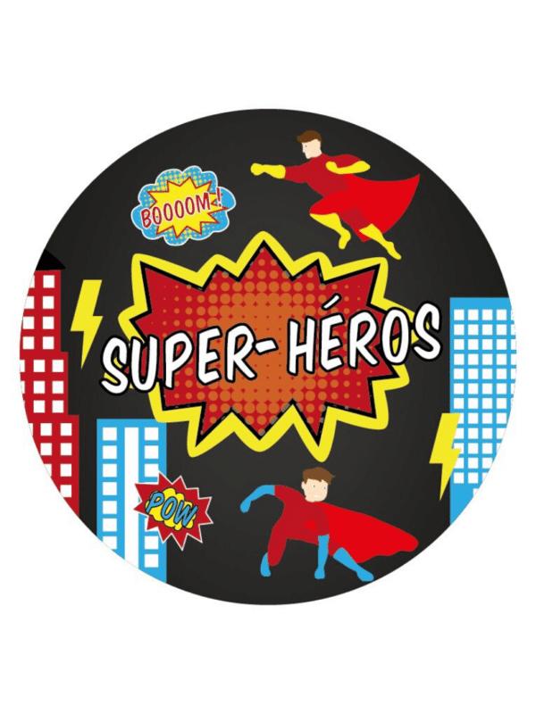 Décoration de fête anniversaire garçon super héros