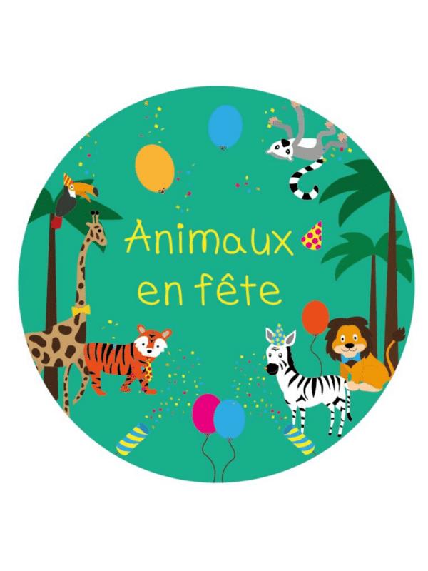Décoration de fête anniversaire animaux en fête personnalisables