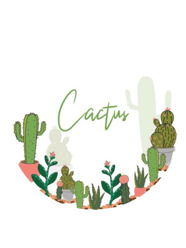 Décorations de fête anniversaire cactus pastel personnalisables