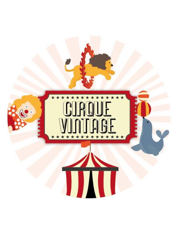 décorations de fêtes anniversaires enfants cirque vintage personnalisables