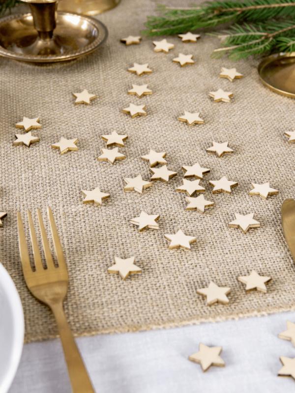 confettis étoiles bois