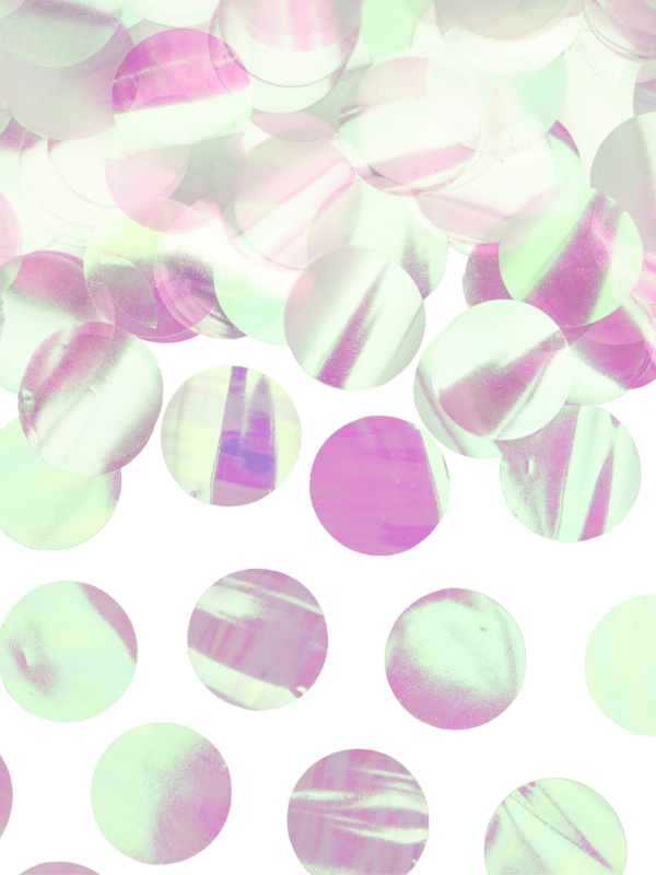 confetti ronds irisés