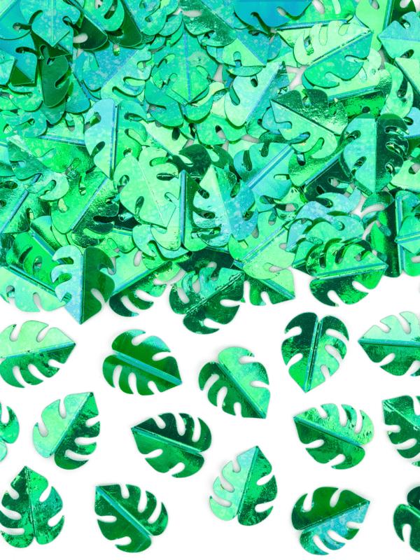 Confettis feuilles tropicales