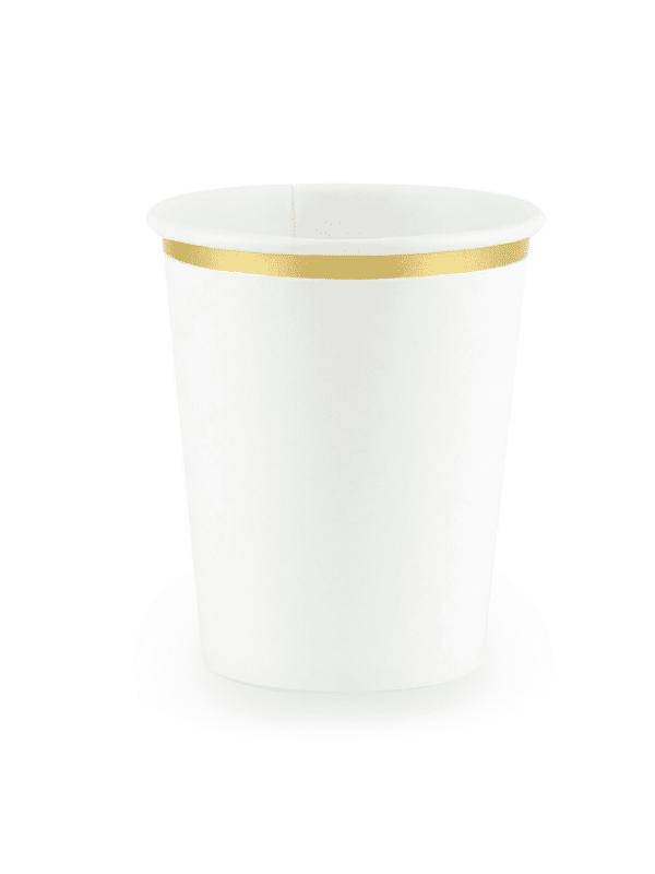 gobelet blanc doré bapteme crealoca