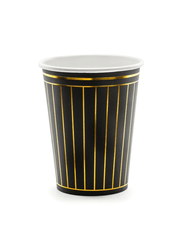 gobelet noir doré gatsby fete crealoca