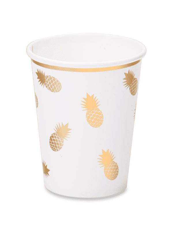 Gobelets tropical ananas doré