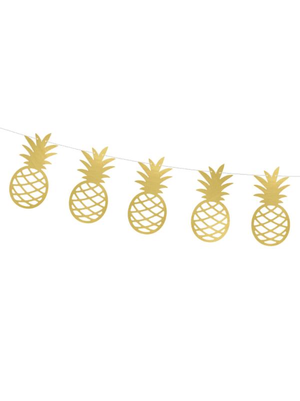 Guirlande d'ananas dorés