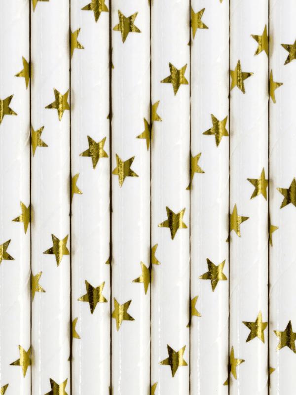 pailles étoiles dorées