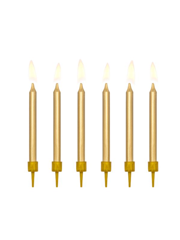 bougies dorées