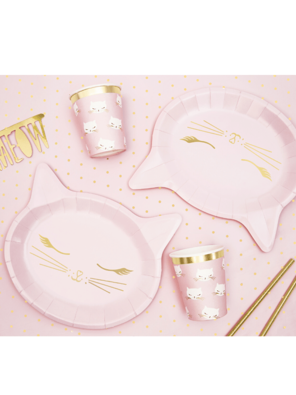assiette chat rose fete crealoca