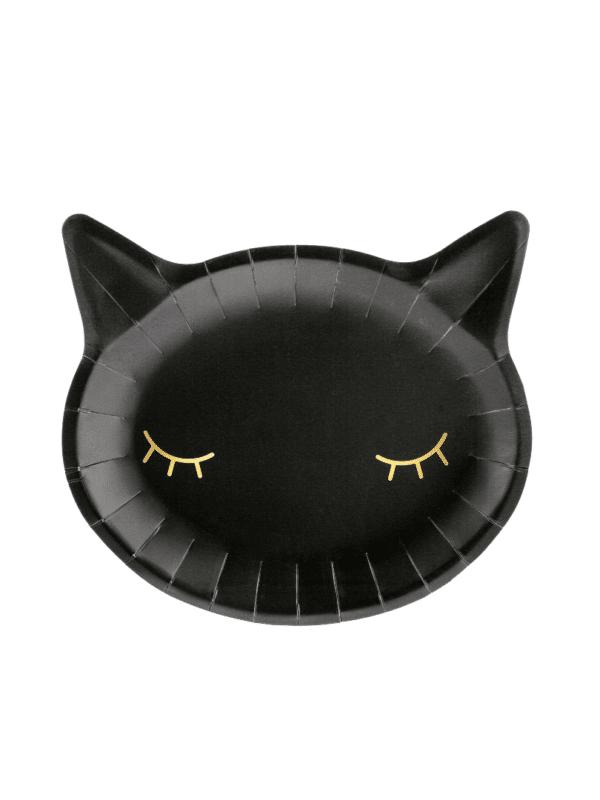 assiette chat noir