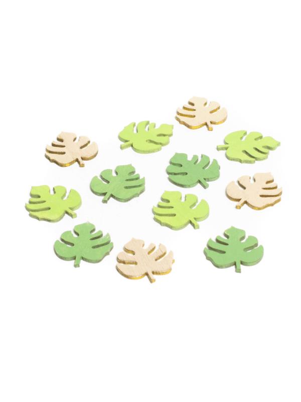 feuilles tropicales en bois