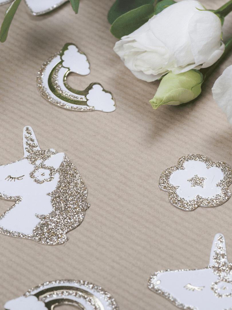 confettis jolie licorne