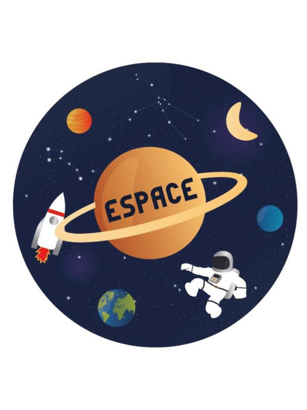 Décorations de fêtes anniversaires espace personnalisables astronaute fusée