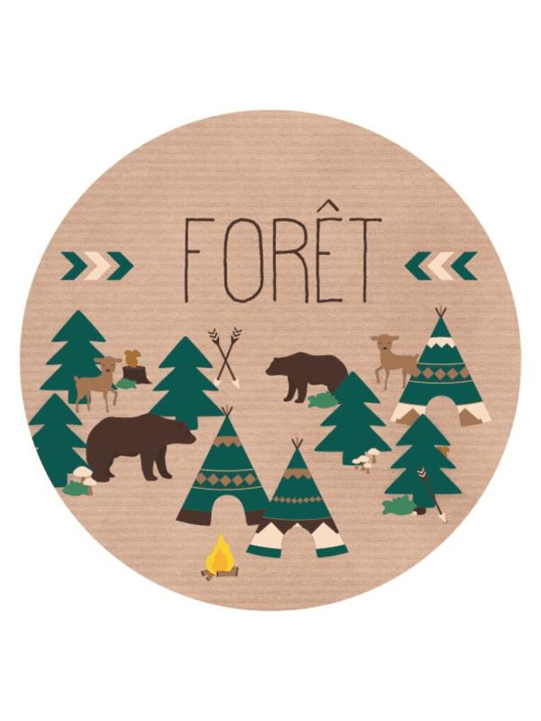 décorations de fêtes anniversaires baptêmes forêt mixte à personnaliser nature et animaux