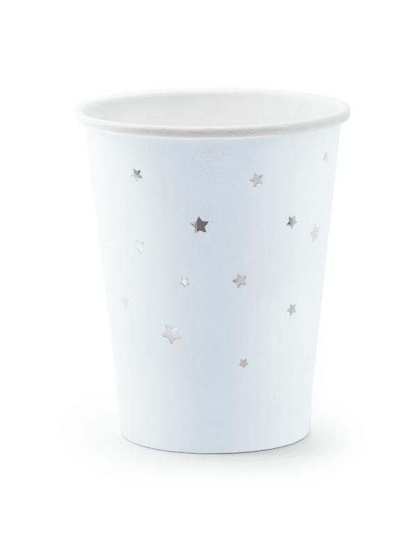 gobelet bleu étoile argent