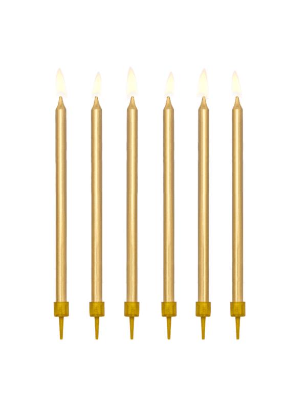 bougies anniversaire dorées