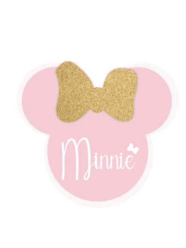 décoration de fête anniversaire naissance fille rose et doré minnie disney