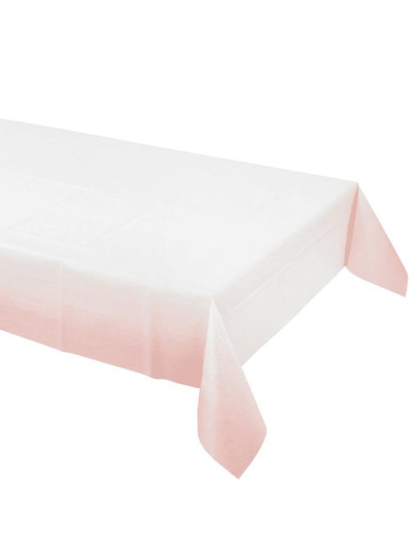 nappe rose blanc