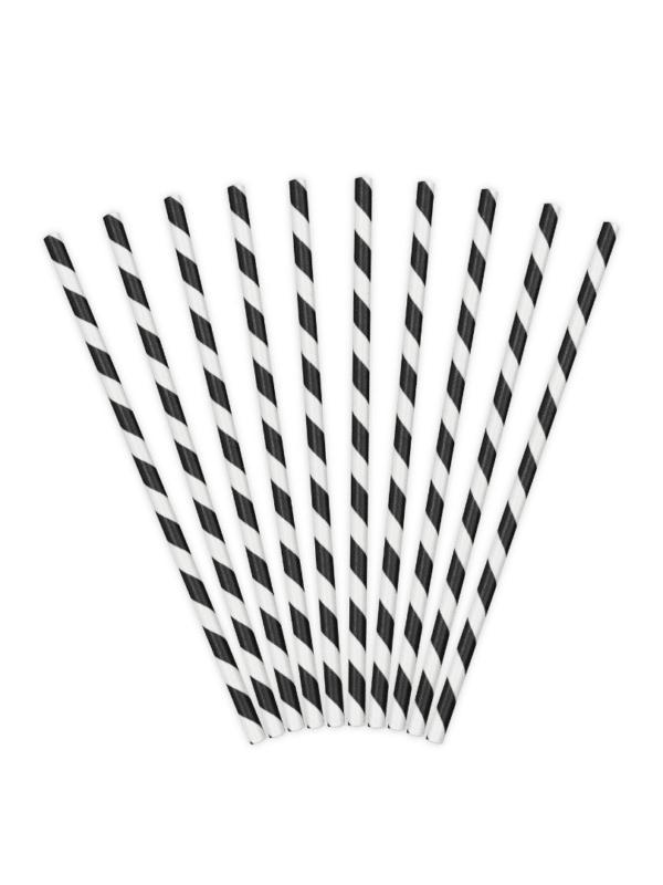 pailles noir et blanc