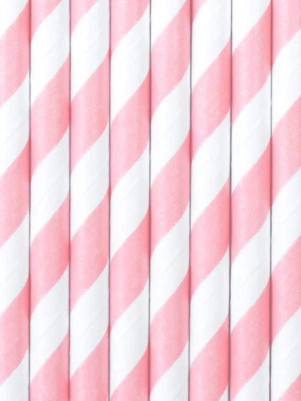 pailles rose et blanc