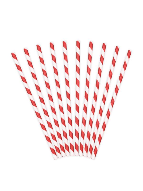 pailles rouge et blanc