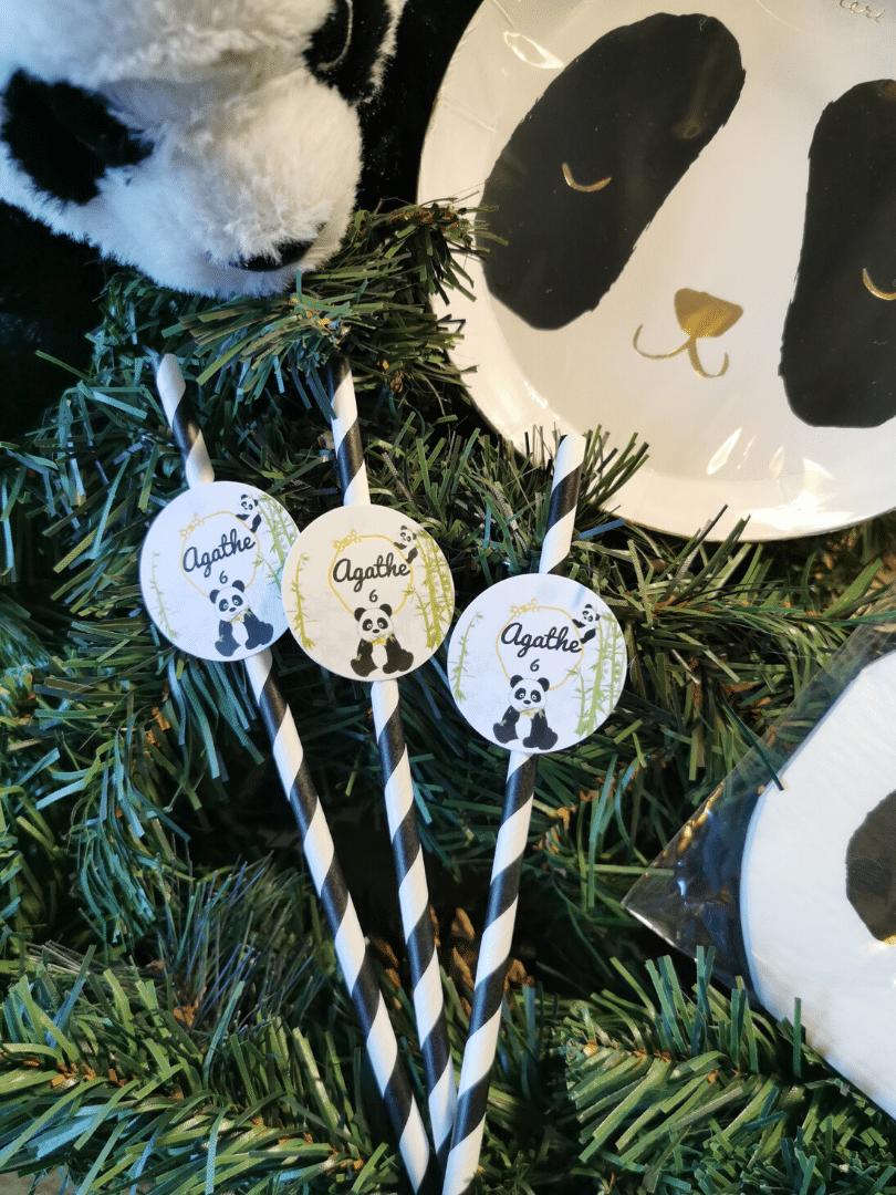 paille personnalisée panda