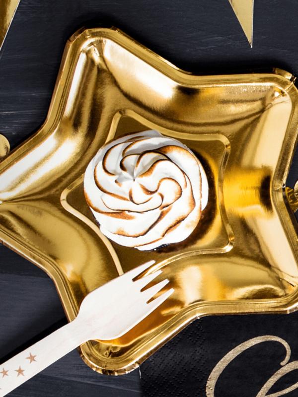 assiettes étoiles dorées PM